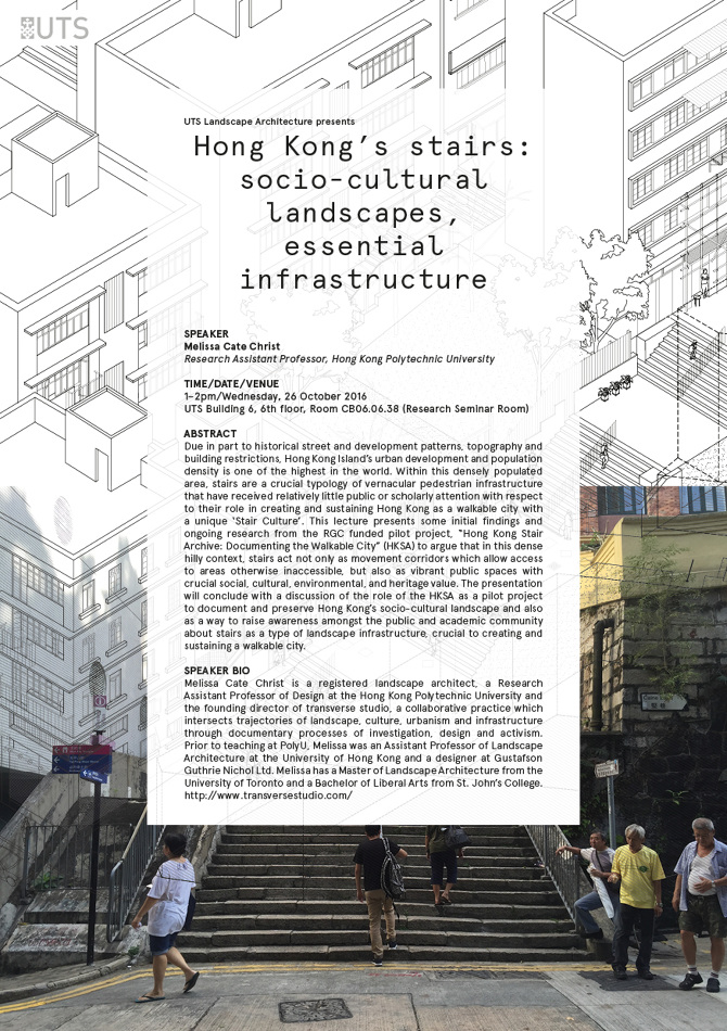 Melissa Presented The Hong Kong Stair Archive Project From A Socio Cultural Landscape Infrastructural Perspective At Architecture Program Of