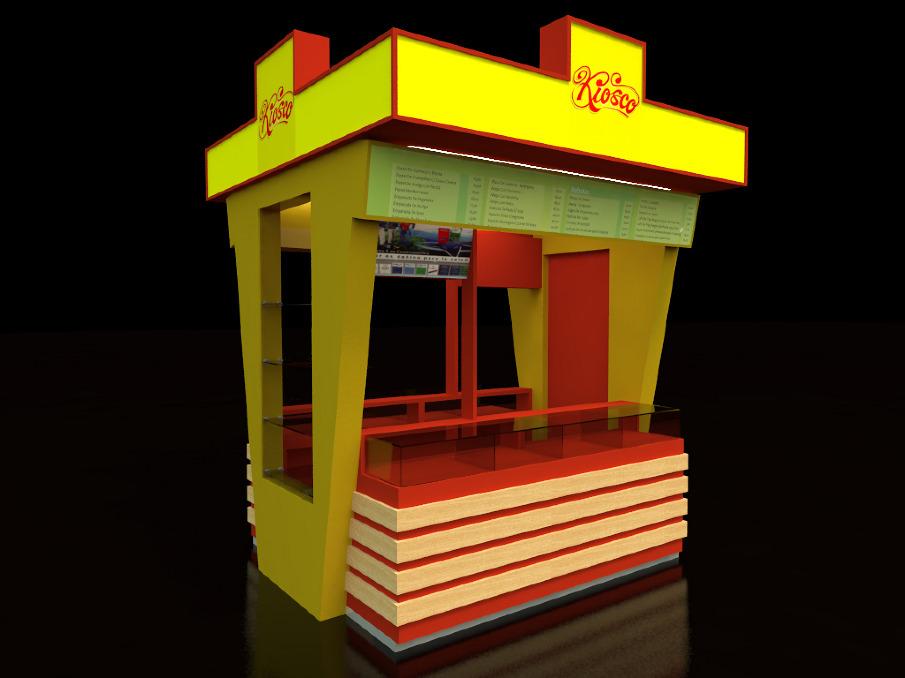 Dise o 3d y render emiliofuentes for Diseno de kioscos en madera