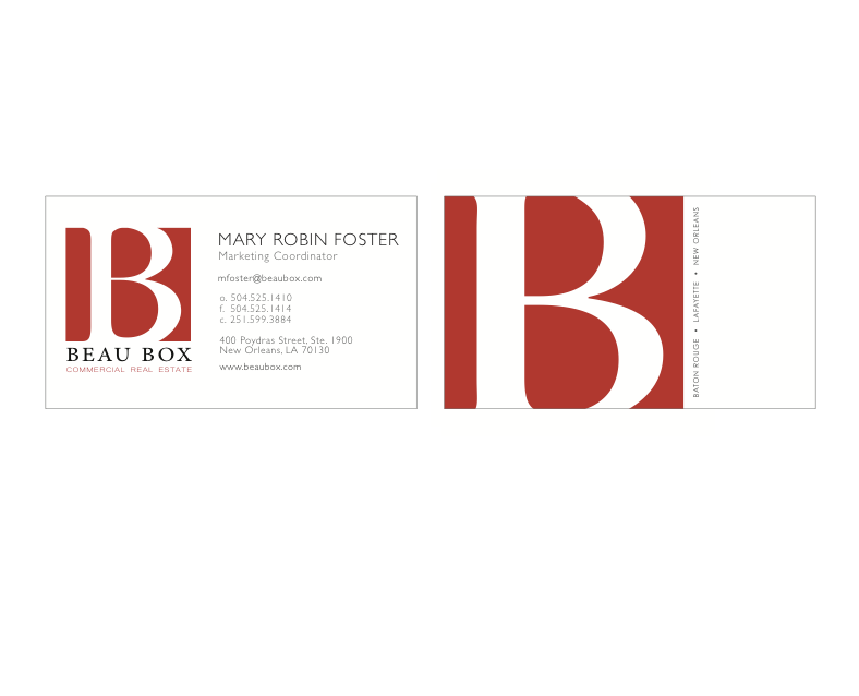 Contemporary business cards new orleans model business card ideas bbcre business cards maryrobinfoster personal network reheart Choice Image
