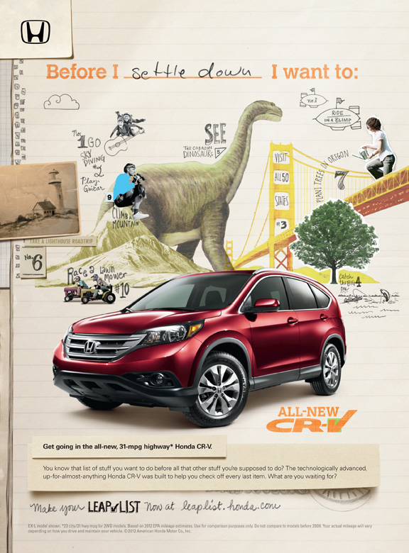 Honda CR V The Leap List
